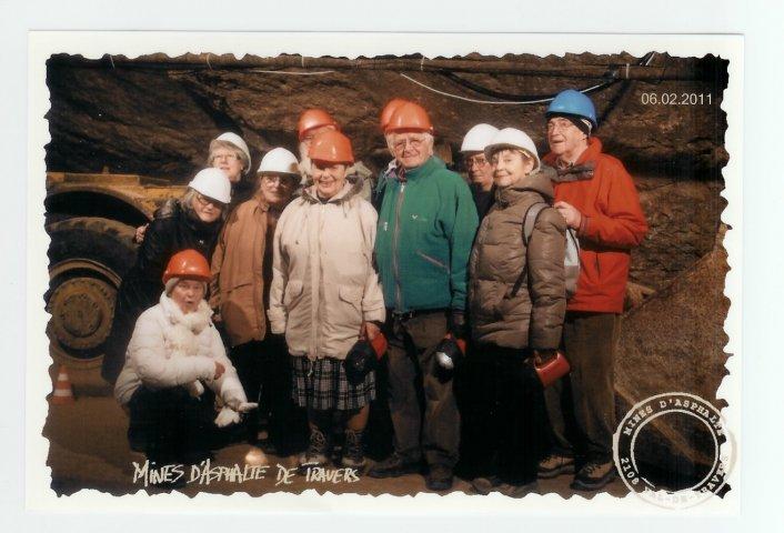 visite de la mine d'asphalte du Val de Travers février 2011