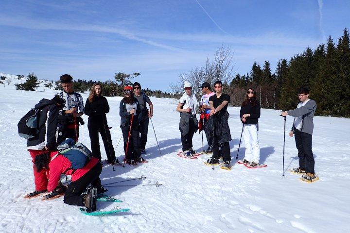 Groupe Mimard 2015 en raquettes
