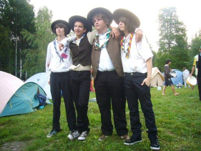 Germain, Dorian, Martin et Sam