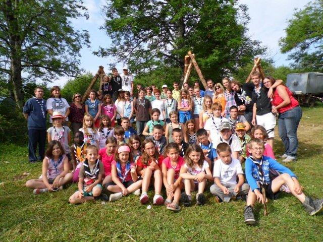 photo de groupe au camp