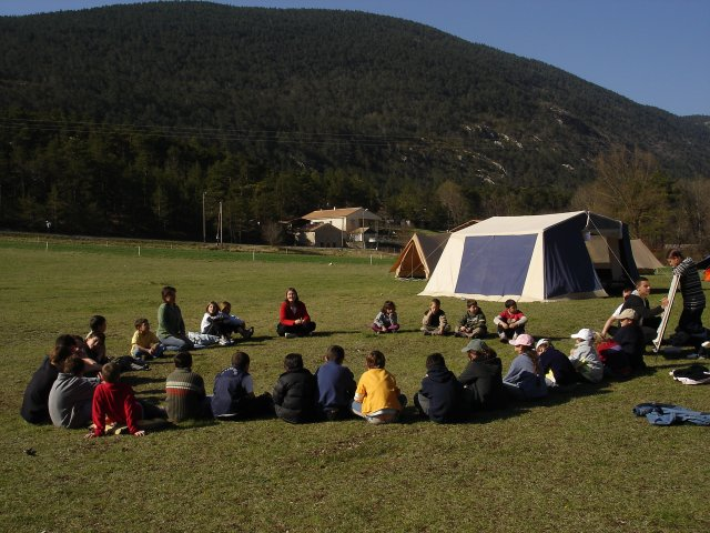 Conseil pendant un camp
