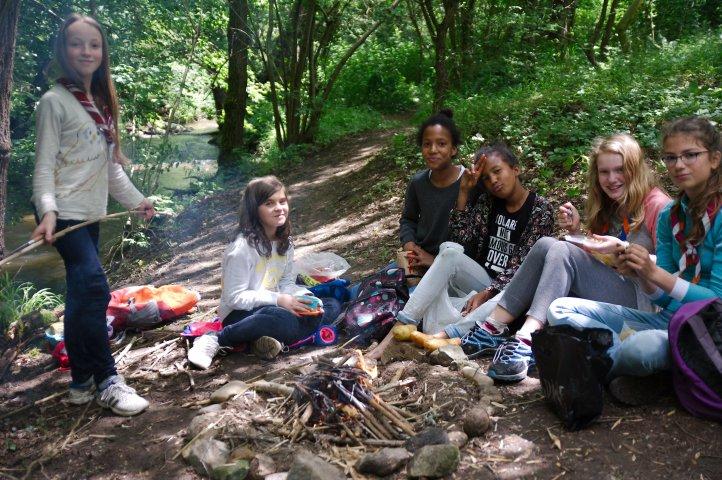 Pause repas sur les bords de l'Yseron