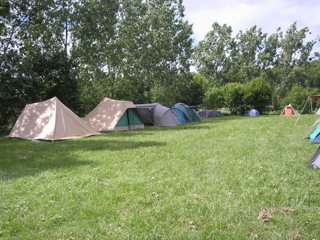 camping sur le terrain