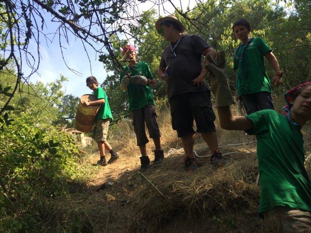 Journée de l'environnement/écocitoyênneté organisée sur le camp. Les éclés en action !