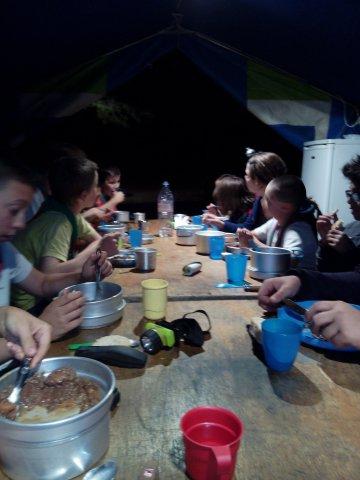 notre 1er repas tardif