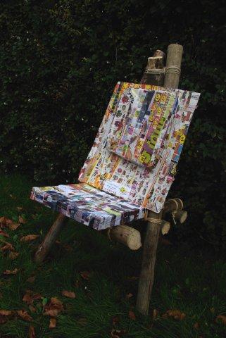 """chaise en froissartage pour l'opération """"asseoir l'espoir"""""""