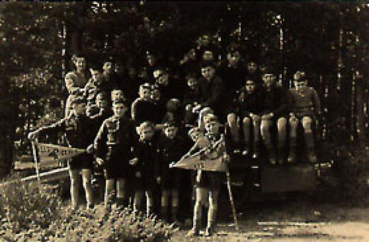 1952 - Le groupe de l'hopital psychatrique en sortie