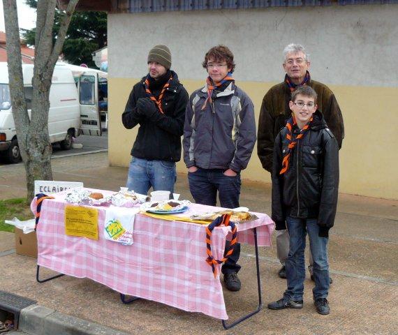 Les éclés sur le marché de Saint-Orens Janvier 2010