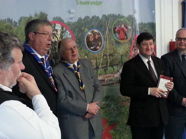 Bernard Hameau est médaillé de la JS