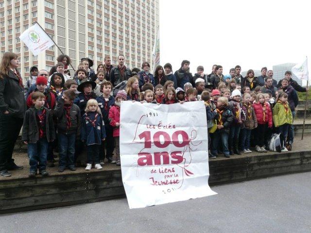 la délégation EEDF NPDC lors de la fête de la solidarité du secours pop