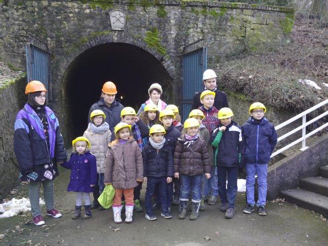Visite de la mine de fer de Neufchef