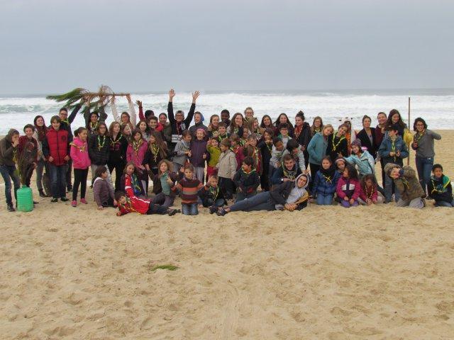 Le groupe sur la plage de Lacanau !
