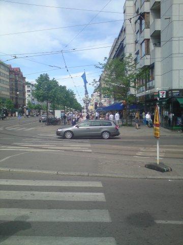 Goteborg ses Rues, son Tram et Troley