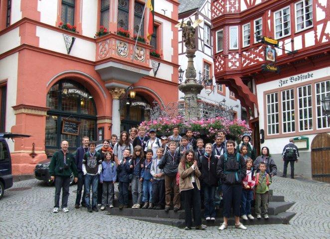 Le groupe en camp en Allemagne
