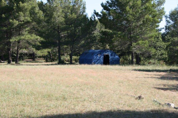 Prairie du lieu de camp