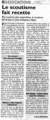 Républicain Lorrain le 17/06/2014